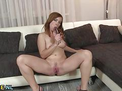 brunette, big tits, milf, toy, masturbation, solo, mom, mature, natural tits, amateur, high heels