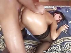 European amateur gets her ass slammed
