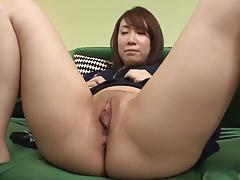 Asian brunette loves sucking hard cock