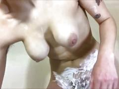 (luna nova) mommy dearest teaches son how to shave