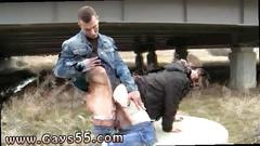 Hot bum boy gets drilled doggy style in public