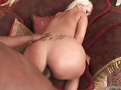 Blonde wife takes this huge dick deep in her ass