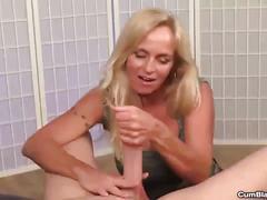 Cumblast-horny  milf handjob