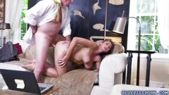 Duke screwing ivy rose on top of his cock bouncing