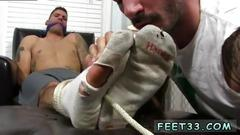 These inked gay hunks are ready for some feet worship stuff