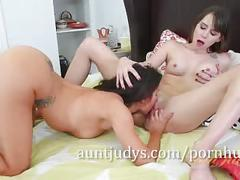 Mature portia harlow and young zoey laine make love