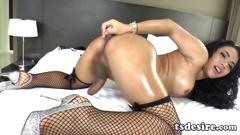 masturbation, toys, big tits, asian, dildo, shemale, solo, tranny