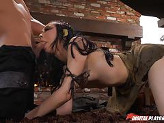 Muff hole of kinky warrior aria alexander banged deep