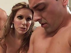 Sex toy fun with kinky courtney cummz and her man