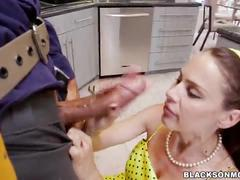 Housewife loves these 2 black cocks