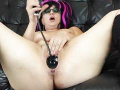 dildo, pussy, tits, sexy, milf, shaved, natural, glasses, boots, buttplug, gape, heels, stretching, meat, highheel, inflatable, loose, meaty, curtains