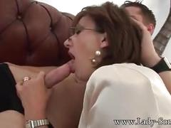 blowjob, b, glasses, brunette, kink, cumshot, lady sonia