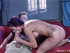 Monster cock stuffed into pussyhole of hot pornstar monique alexander