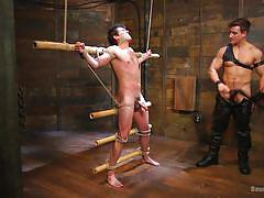 Submissive hunk sucks big cock