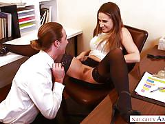 babe, office, blowjob, eating pussy, brunette, big dick, naughty office, naughty america, cassidy klein, lucas frost