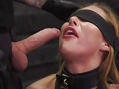 blonde, bdsm, babe, domination, blowjob, blindfolded, tattooed, mouth gagged, electric wand, slave training, the training of o, kink, tommy pistol, carter cruise