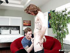 Two best friends sucking each others cock