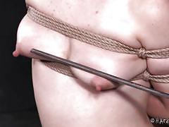 milf, blonde, bdsm, interracial, whipping, tattooed, suspended, mouth gagged, rope bondage, electric vibrator, hard tied, elizabeth thorn, jack hammerx