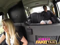 Female fake taxi stranded builder has a stroke of luck