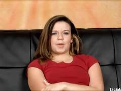 Gorgeous petite emma heart face fucking & does rough anal