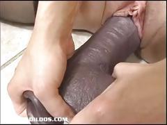stockings, dildo, blonde, amateur, busty, toy, masturbating, masturbation, solo, sextoy, masturbate, insertion, brutal
