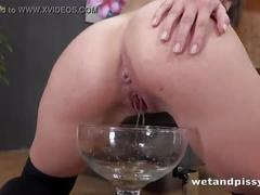 dildo, pussy, fucking, brunette, shaved, fingering, mouth, squirt, masturbation, solo, fetish, pissing, long, foot, piss, fingers, watersports