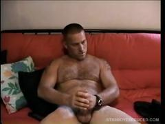 Straight boy justin jerks off