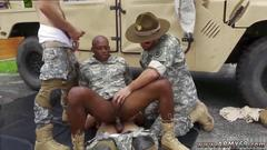 Hot black stud rides a massive schlong outdoors
