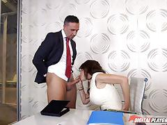 Deep penetrations with mckenzie lee at the office