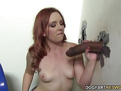 Huge black cock glory hole
