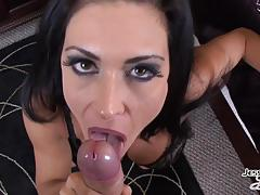 Hot bj with kinky brunette jessica jaymes and facial