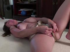 Mature amateur masturbating