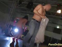 Lapdance porn show on stage