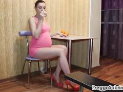 Giving you an pregnant erotic striptease!