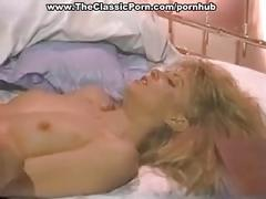 Hot blonde fucks on the bed.