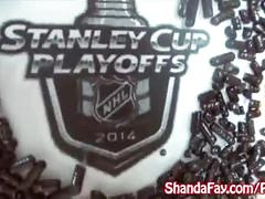 Shanda celebrates stanley cup with a fucking & a cum doughnut!