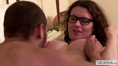 Curly hair shemale riley quinn and her straight guy partner fucks her in the ass