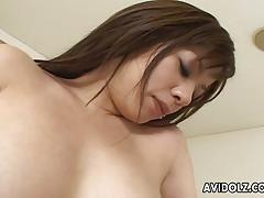 Sexy maria wanking hard on her bushy wet pussy