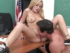 Student mae lynn fucked by teachers big dick