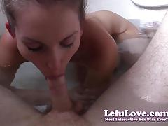 Brunette lelu love sucking hard cock
