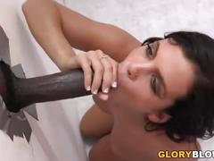 Keisha grey having interracial sex at a gloryhole