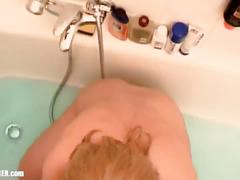 1999 homemade sextape - blond girlfriend swallowing two cum facials