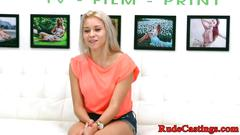 Real teen roughly banged at casting audition