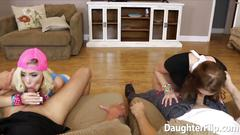 Alyce sage and kimberly moss sucking dick and drilled