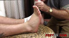 These gorgeous gay dudes are ready for some foot worship fun