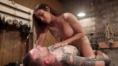 Tranny mistress gets anal fucked from slave