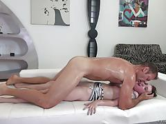 rocco siffredi, misha cross, brunette, blowjob, cumshot, facial, reverse cowgirl, cowgirl, rimming, sucking, ass lick
