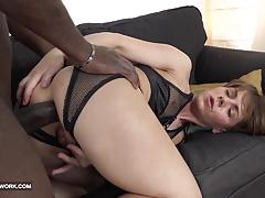 Naughty milf takes this huge dick up her ass