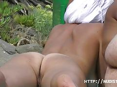 Nude amateurs at the beach