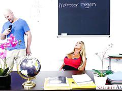 milf, blonde, teacher, blowjob, dildo, caught masturbating, huge tits, classroom, big dick, my first sex teacher, naughty america, jmac, tegan james